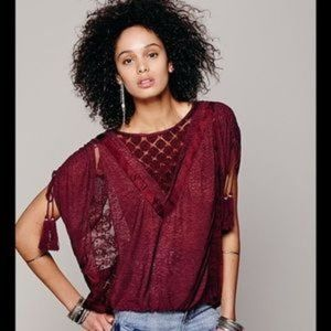 Free People South of the Equator Peasant Top S